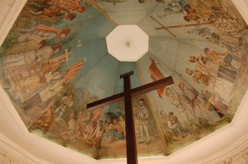 This cross houses what is believed to be the remains of the original cross planted by the Portuguese explorer Ferdinand Magellan in the Philippines in 1521. Photo taken in Cebu City, May 2010.